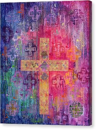 Eastern Cross Canvas Print by Laila Shawa
