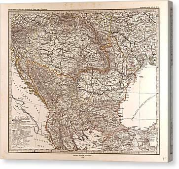 Eastern Europe Map Gotha Justus Perthes 1874 Atlas Canvas Print