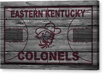 Ball Canvas Print - Eastern Kentucky Colonels by Joe Hamilton