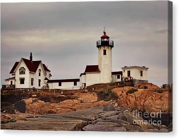 Eastern Point Lighthouse Canvas Print by Joann Vitali