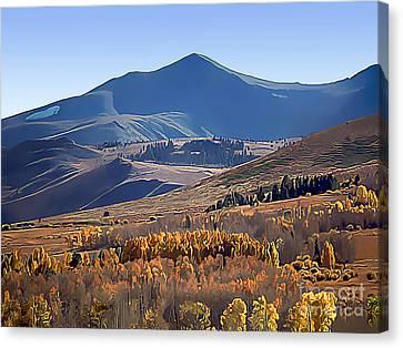 Eastern Sierra Nevada Autumn Canvas Print by Wernher Krutein