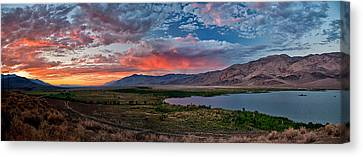 Eastern Sierra Sunset Canvas Print by Cat Connor