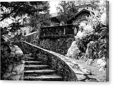 Radnor Canvas Print - Eastern University - Stairs In Black And White by Bill Cannon
