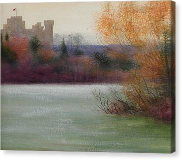 Eastnor Castle Canvas Print by Edward Clifford