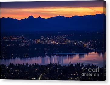 Eastside Bellevue Sunrise Canvas Print by Mike Reid