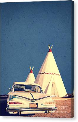 Eat And Sleep In A Wigwam Canvas Print