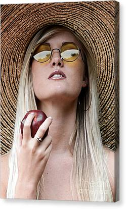 Glamour Optics Canvas Print - Eat Healthy And Look Beautiful by Jt PhotoDesign