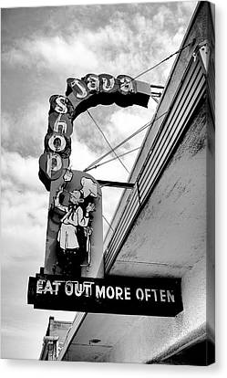 Canvas Print featuring the photograph Eat Out by Trever Miller
