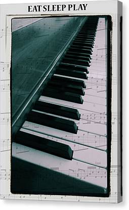 Eat Sleep Play Piano Canvas Print by Dan Sproul
