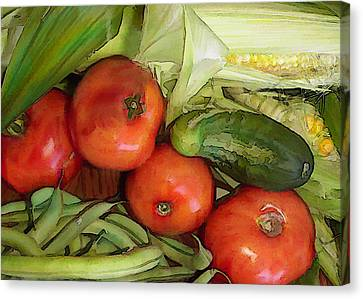 Eat Your Veggies Canvas Print by Elaine Plesser