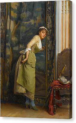Eavesdropping Canvas Print by Theodoros Rallis