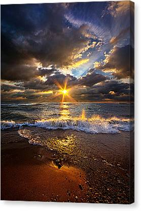 Ebb And Flow Canvas Print by Phil Koch