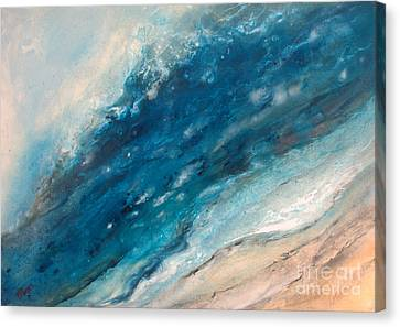 Ebb And Flow Canvas Print by Valerie Travers
