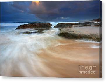 Ebb Tide Sunrise Canvas Print by Mike  Dawson