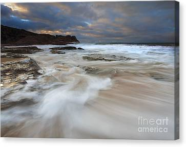 Ebbtide Sunrise Canvas Print by Mike Dawson