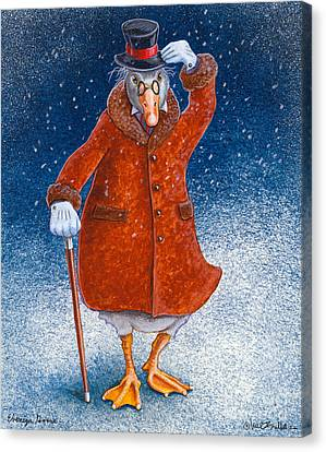 Ebenezer Goose... Canvas Print by Will Bullas