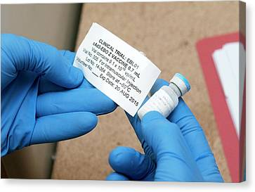 Ebola Vaccine Canvas Print