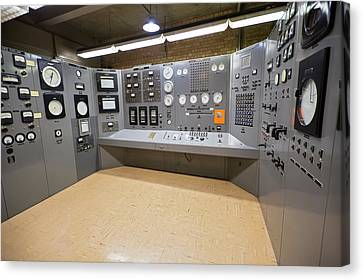 Ebr-i Nuclear Reactor Control Room Canvas Print by Jim West