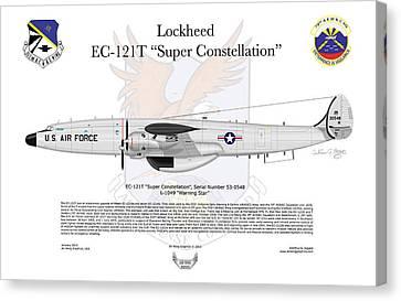 Ec-121t Warning Star Canvas Print by Arthur Eggers