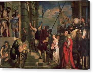 Ecce Homo, 1543 Oil On Canvas Canvas Print by Titian