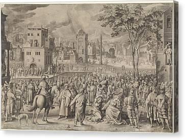 Ecce Homo, Nicolaes De Bruyn Canvas Print