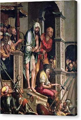 Ecce Homo  Canvas Print by Cristovao de Figueiredo