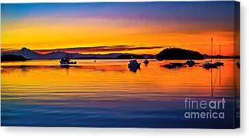 Echo Bay Sunset Canvas Print by Robert Bales