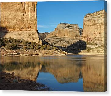 Echo Park In Dinosaur National Monument Canvas Print by Nadja Rider