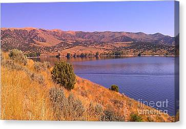 Canvas Print featuring the photograph Echo Reservoir Utah by Chris Tarpening