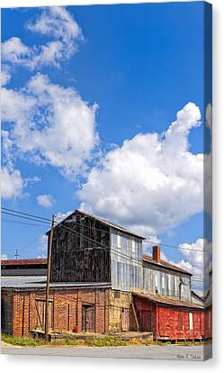Echoes Of Industry - Small Town Georgia Canvas Print by Mark E Tisdale