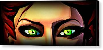 Canvas Print featuring the painting Echo's Eyes by Persephone Artworks