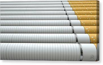 Ecigarette Evolution Canvas Print by Allan Swart