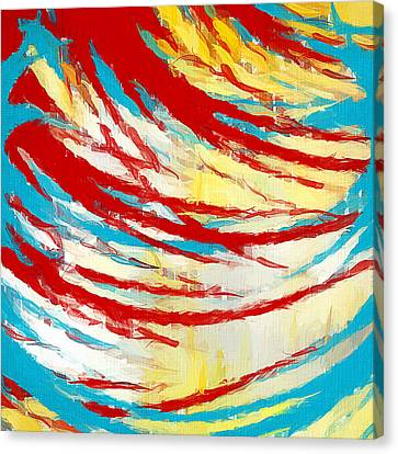 Abstract Art Ideas Canvas Print - Eclectic Rays  by Lourry Legarde
