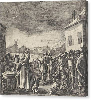 Eclipse Of August 12, 1654, Anonymous Canvas Print by Anonymous