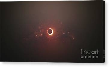 Eclipse Of The Sun In Nearby Solar Canvas Print by Tomasz Dabrowski