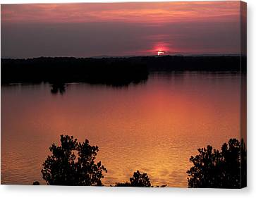 Eclipse Of The Sunset Canvas Print by Jason Politte