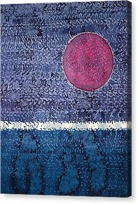 Eclipse Original Painting Canvas Print by Sol Luckman