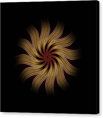 Eclipsed Mandalas   440 Canvas Print by David Dehner