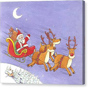 Christmas Cards Canvas Print - Eco-firendly Air Miles by Peter Adderley