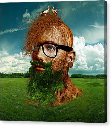 Odd Canvas Print - Eco Hipster by Marian Voicu
