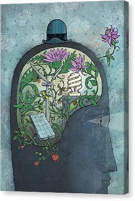 Ecohead Canvas Print by Dennis Wunsch
