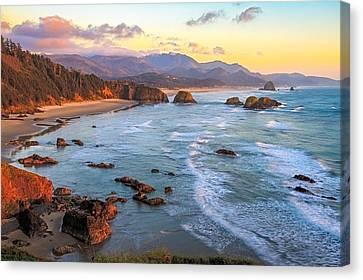 Ecola Beach Sunset Canvas Print