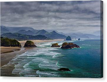 Pacific Coast States Canvas Print - Ecola Viewpoint by Rick Berk