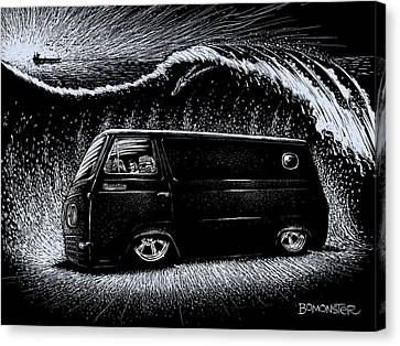 Hot Rod Canvas Print - Econoline Wave II by Bomonster