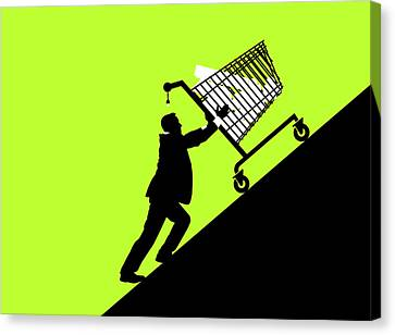 Economic Retail Support Canvas Print