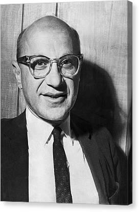 Economist Milton Friedman Canvas Print by Underwood Archives