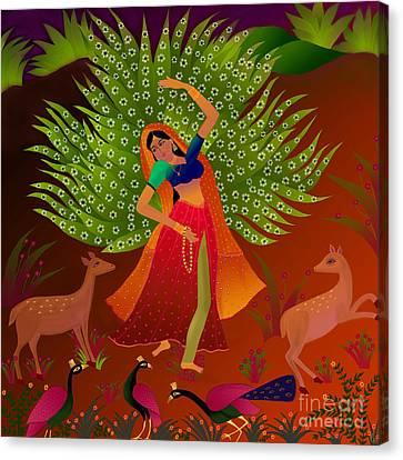 Ecstasy-ragamala Canvas Print by Latha Gokuldas Panicker