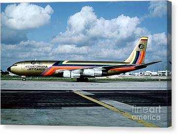 Ecuatoriana Jet Cargo Boeing 707-321c Hc-bgp Canvas Print by Wernher Krutein