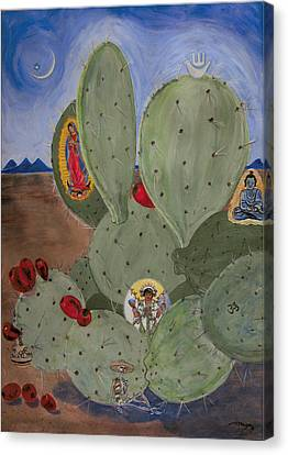 Ecumenical Cactus Canvas Print by Illusions Maya