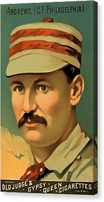 Ed Andrews Baseball Card Canvas Print by David Letts